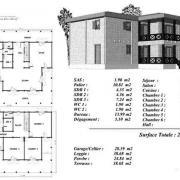 Plan maison bois peuplier