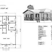 Plan maison en bois hetre