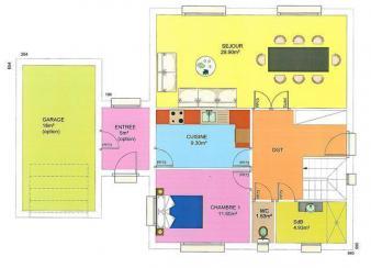 Plan maison robina wood rdc