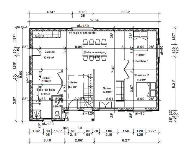 plan de maison habitation
