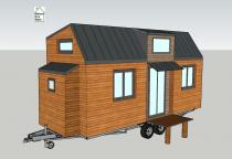 Plan tiny house modèle Éva