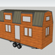 Plan tiny house modele lola