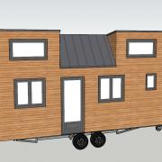 Plan tiny house pauline