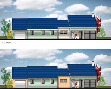 Plans maison modele bois peint