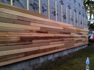 Pose du bardage sur murs ext rieur en ossature bois - Habiller un mur exterieur en beton ...