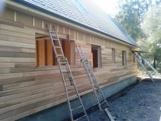 Pose bardage exterieur maison ossature bois maison bois