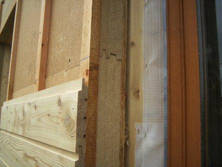 Pose du bardage sur murs ext rieur en ossature bois for Isolation maison exterieur bardage bois