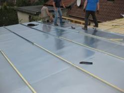 Pose du zinc sur toit plat