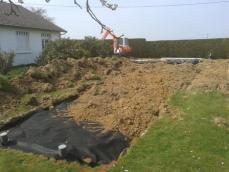 Terrassement du drainage assainissement de maison