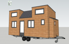 Tiny house plan 3D Pauline