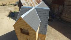 Toiture de tiny house ou Mini-maison sur roues