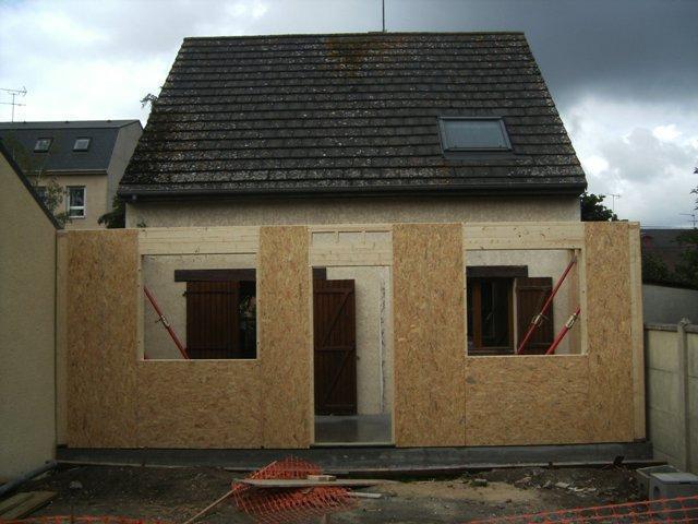Agrandissement de maison maison eco malin - Faire un agrandissement en bois ...