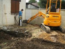 Travaux de terrassement décapage du terrain