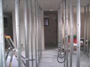 Travaux platrerie pose des cloisons dans maison individuelle