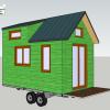 Tyni house modele etudiant en 3d couleur vert