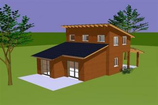 Vue 3d plan habitation spagna