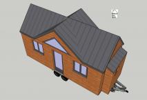 Vue 3D plan tiny house modèle Lili