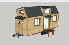 Vue 3D tiny house en avant projet