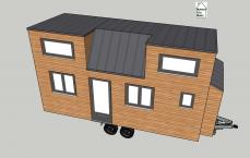 Vue 3D Tiny house modèle Pauline