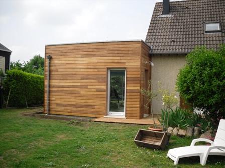 Extension de maison construite en ossature bois evreux for Prix agrandissement bois