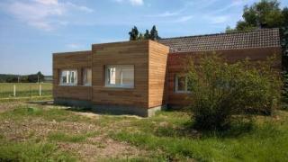 Vue d ensemble de l agrandissement en bois