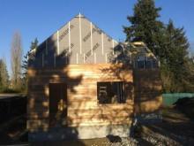 Vue de cote de la maison en ossature bois