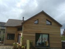 Vue de cote de la maison ossature bois