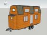 Vue en 3d d une tiny house ou mini maison