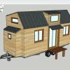 Vue en 3d de plan tiny house modele eva