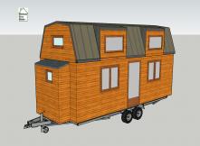Vue en 3D du plan de la Tiny house modèle Lola