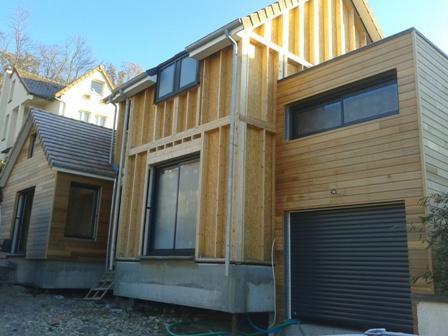 Travaux am nagement int rieur isolation maison ossature bois for Enduit pour bois exterieur
