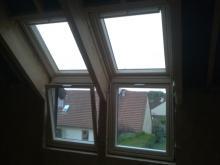 Vue interieur fenetre de toit