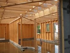 Vue interieur maison en ossature bois