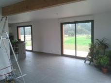 Vue interieur maison ossature bois 1