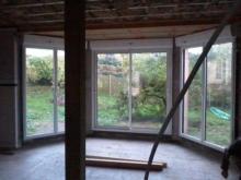 Vue interieure menuiseries maison bois